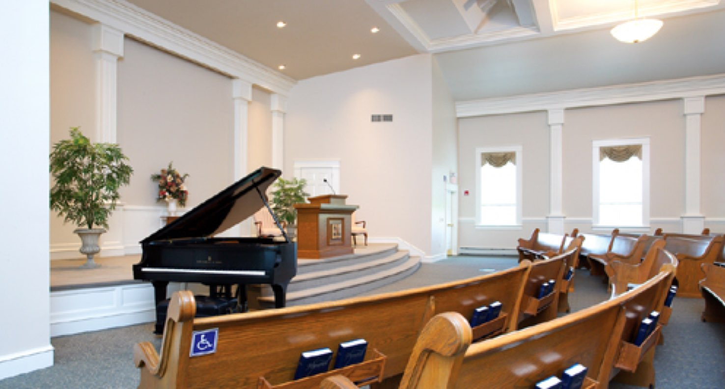 New clean and modern sanctuary of Stumptown Mennonite Church